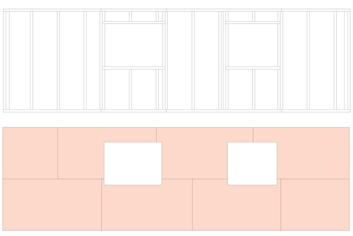 OSB Platten Verlegung für Wand