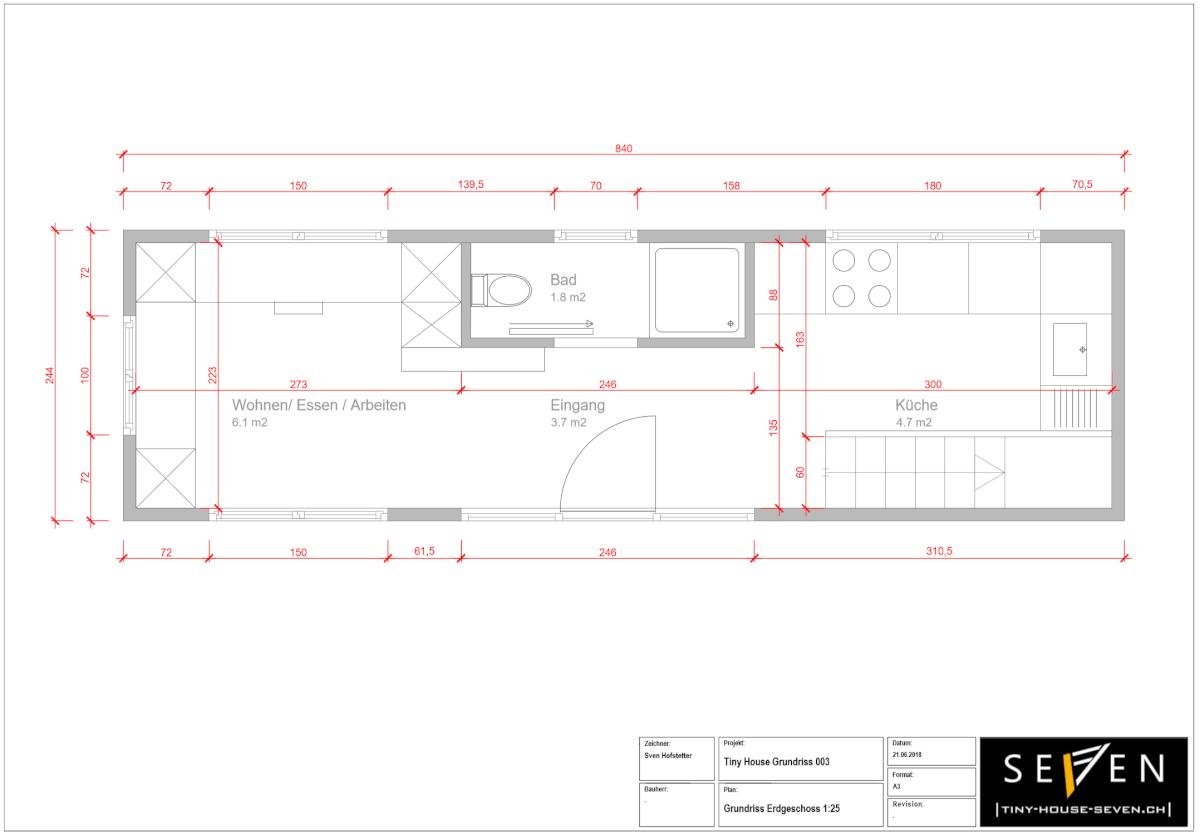 Tiny House Grundrisse 003 Erdgeschoss