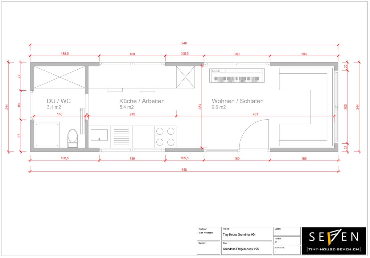 Tiny House Grundrisse 004 Erdgeschoss