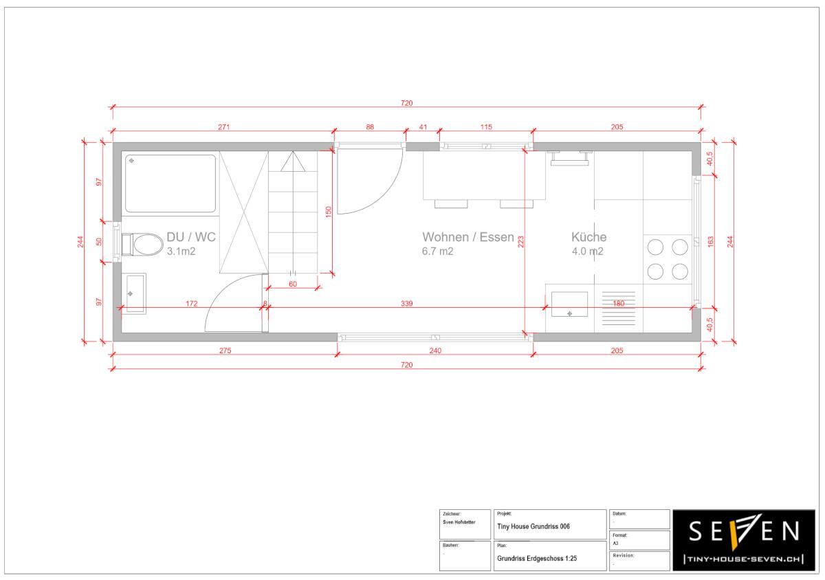 Tiny House Grundrisse 006 Erdgeschoss