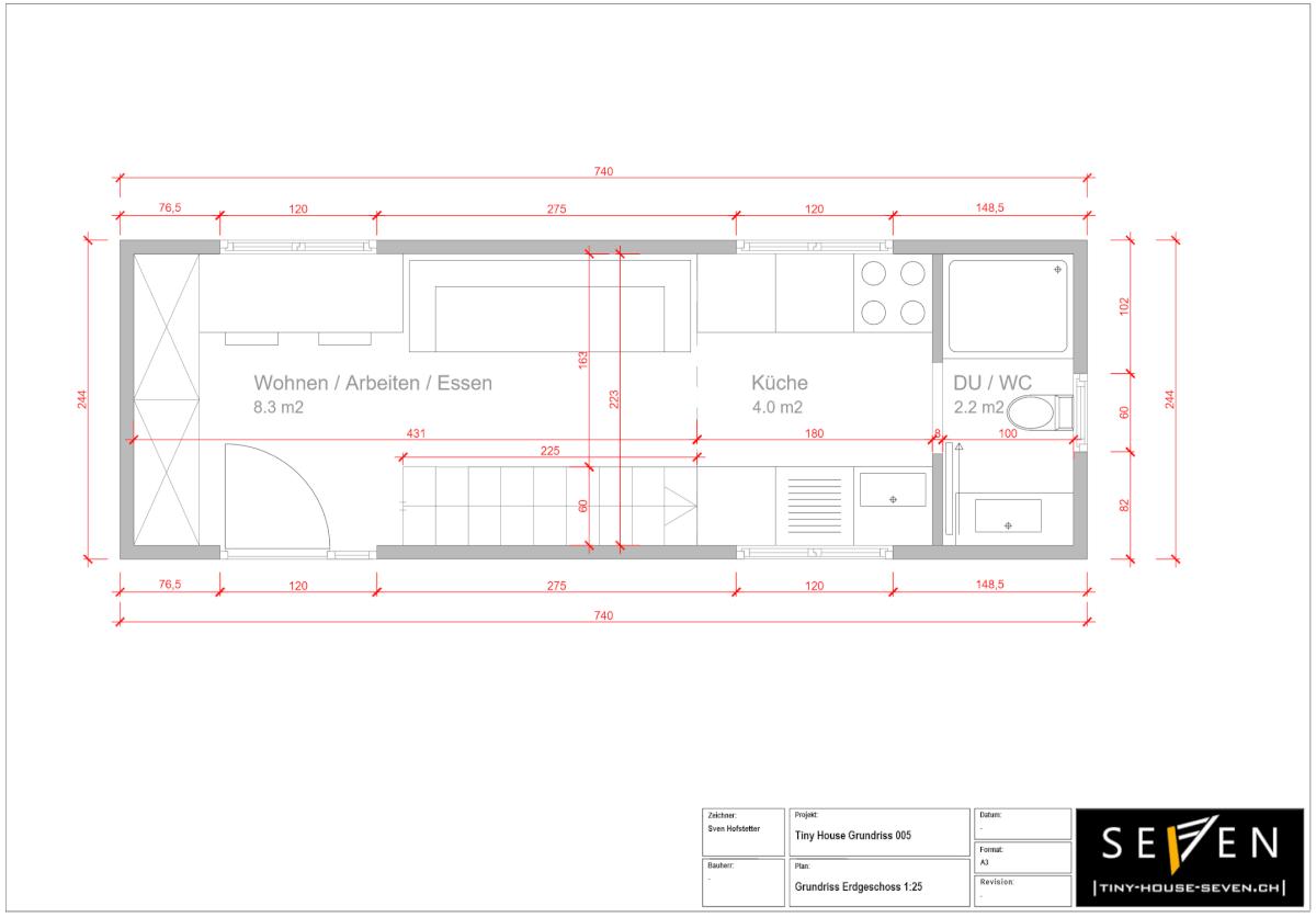 Tiny House Grundrisse Erdgeschoss 005