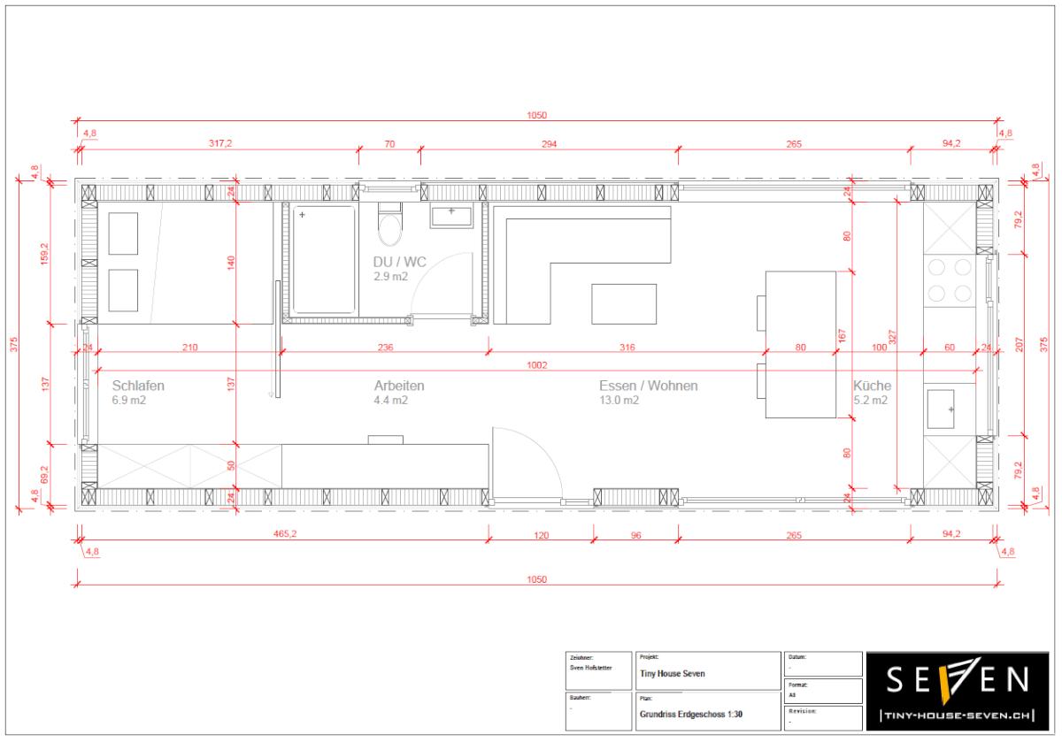 Grundriss Erdgeschoss Projekt Seven